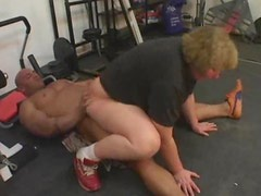 BBW mature in gym fucked in her cunt