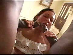 Hot slut sucks lots of black dick