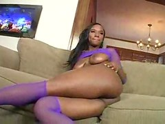 Solo black girl tease and pussy masturbation
