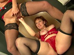 Faye Rampton is licking pussy of Wendy Taylor