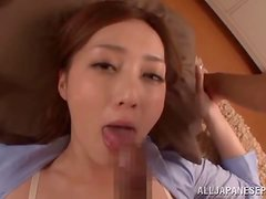 Kaede Fuyutsuki sucks a hard cock and takes it in her juicy pussy