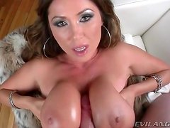 Asian on her knees gets a cum bath from lots of cocks