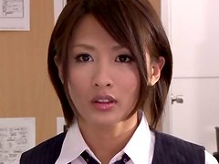 Office Stunner Has To Work With A Dildo In Her