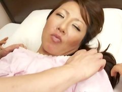 Pretty Asian mom gets deep penetration from some stud