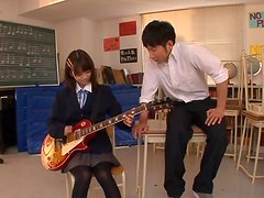 Asian School Girl Asuka Hoshino Fucked Hard in Music Class