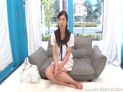 Hot Japanese Girl in Cute Outfit Moans Loud while Fucked