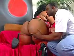 You get teased by a huge ass black chick