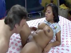 A big girl eaten out and fucked hard