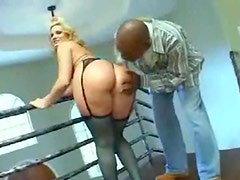 Fucking big ass blonde whore in the ass