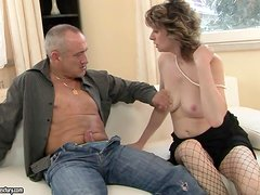 mature woman gets fucked and jizzed