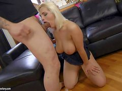 Ass fucking adorable blonde Dominica with perfect natural knockers and