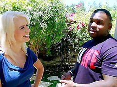 Tight butt cutie Anikka Albrite gets her ass stretched by brutal black dude and sucks his huge cock