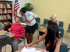 Lustful milf teacher makes her student fuck her