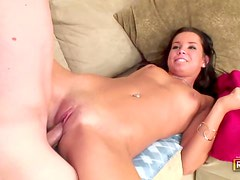 Beautiful brunette gives up her pussy
