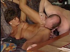 German milf gets her hubby off