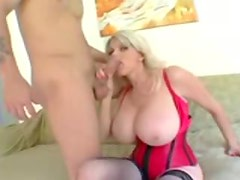 Hot chubby chick in a corset has incredible sex