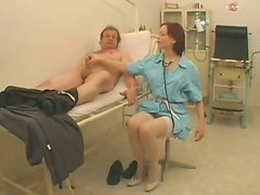 Lusty brunette nurse Julie knows how treat her patients