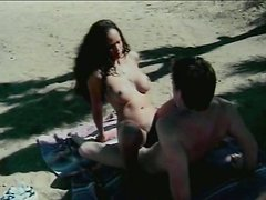 Hot quickie on the sandy beach with zealous ebony whore
