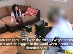 UK chick does porn audition