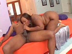 Fucking black BBW and cumming on her tongue