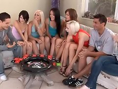 Six 18yo youngsters play sex game fucking game funny sex  to win A oustanding and meaty male sausage