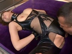 Stunning MILF in Sexy Lingerie Yuma Asami Fucked for Facial