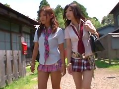 Nice teen chick Hibiki has a threesome with classmates