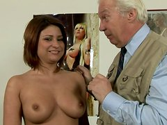 Old fart drilling young whore  in all possible styles