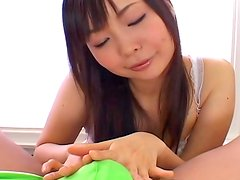 Nasty Asian babe Sumire Kanno makes a blowjob
