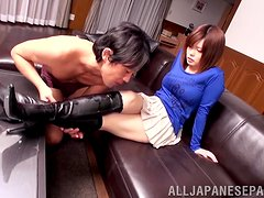 Big Breasted Asian Airu Oshima Sucks and Titjobs in Hardcore Sex Vid