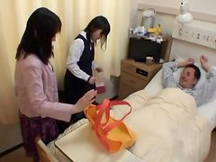 Asian schoolgirl visits male friend in hospital for a fuck