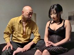 Hot MILF Megumi pussy licking with deep penetration