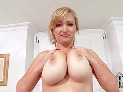 British BBW girl Sara Willis with alluring smile and big