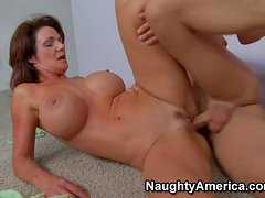 His buddy's mature mom Deauxma is a busty seductress after