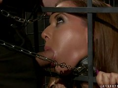 Essy the horny sex slave gets pounded hard in BDSM video