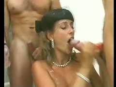 Two scenes of Euro hotties banging