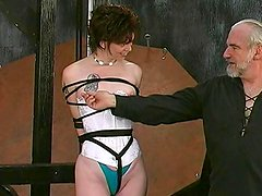 Alluring babe is getting humiliated and spanked