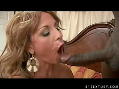 Stunning Summer the hot MILF has sex with Black guy