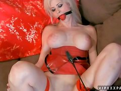 Two Leather Wearing Whores Destroy Each Other's Holes