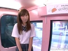 Cute Asian School Girl Loves to Get Fucked in Public