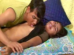 An Indian couple plays dirty games on cam