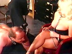 Blonde being fucked and humiliated with tortures
