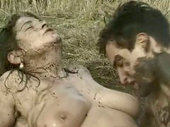 Mature bushbitch Diane gets fucked in dirty water
