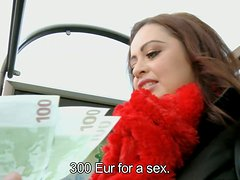 Czech hottie with big juicy boobs is offered  sum of money