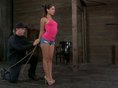 Fabulous Jynx Maze volunteers for BDSM and bondage sex