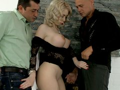 Isabella Clark's mouth is attached by two horny dudes