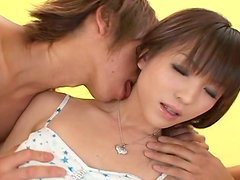 Zesty Japanese hottie Arisa Suzuki gets her cunt eaten and fingered