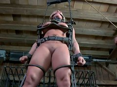 Impressive BDSM game with blond mistress Dia Zerva