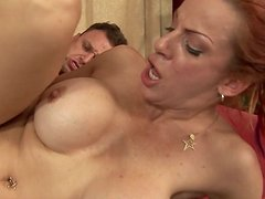 Busty pale cock addicted Shannon Kelly gets poked from behind