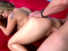 Delightful snow white hoe Sienna Milano rids huge throbbing cock